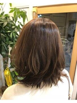 ロイ ヘアルーム 草加店(Roy hairroom)☆外ハネミディ☆