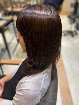 オリジンズ ヘアー(Origins hair)の写真/COTA ストレートスリム導入!思わず触れたくなるしなやかで艶のある質感が続くストレートヘアを実現【取手】