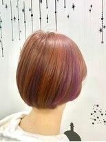 ヘアーサロン エール 原宿(hair salon ailes)(ailes 原宿)style439 ブラッドピンク&パープル☆ボブディ