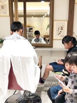 トロ ヘアーサロン(.toro hair salon)の写真/【お子様同伴可/キッズスペースあり】お子様連れ多数◎親子や家族で周りを気にせず楽しいサロンtimeを♪