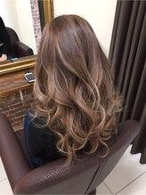 髪こうぼうベージュ系外国人風カラー