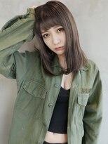 アンジェリカ ハラジュク(Angelica harajuku)【Angelica】グレージュカラーシースルーバングセミロング