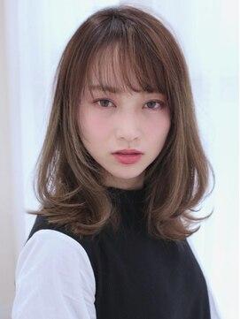 アグ ヘアー ドレス 喜久田店(Agu hair dress)《Agu hair》抜け感がマストヌーディーミディ