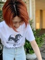 ソーイ(sowi)オレンジカラー×ボブショート【@sowi_abe】