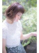 テラス(terrace)【terrace 銀座】オンまゆバングナチュラル小顔ボブ☆