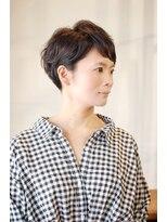 ラトリエコンタン(L´atelier Content)【L`atelier Content miho】ツーブロックマッシュショート 暗髪