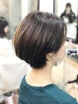 エトネ ヘアーサロン 仙台駅前(eTONe hair salon)20代30代40代オススメ/程よいクビレのひし形ショートボブ