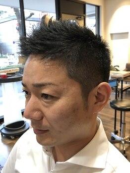 ヘアーステーショントップ(hair station TOP)の写真/デキる男のON/OFF使い分けスタイル◎営業経験のあるスタイリストが、ビジネスマン向け好印象スタイルを作る