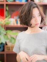 *+COVER HAIR+*…キメ過ぎないボサ感がポイント★ラフボブa