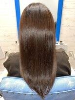スローライフヘアーデザインアンドスパラウンジ(Slow life Hair design spa lounge)質感矯正ミネコラダブル+水素原子バスク