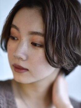 エミヲ 西新店(emiwo)の写真/オーガニックカラーで低刺激、髪や頭皮に優しい薬剤使用!トレンドを意識したグレイカラーで明るい色味も◎
