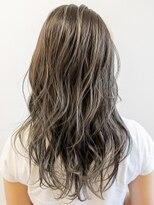 【AUBE HAIR】モーブグレージュ_セミウェットウェーブ
