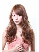ダミアバイルル(DAMIA by LuLu)43★大人可愛いドールカール×ピンクブラウン×エアウェーブ
