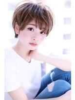 アッシュ小顔ラフショートスタイル【Cirrus by Cloud zero】