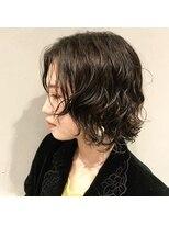 フェン ヘアーアイス(Fen.hair ici)似合わせ伸ばしかけショートデジタルパーマ