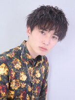 アルバム シンジュク(ALBUM SHINJUKU)マッシュウルフ七三オールバックツイストパーマ_35159