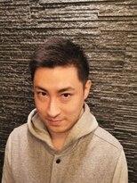 プレミアムバーバー 原宿店(PREMIUM BARBER produce by HIRO GINZA)ビジネスショートアップバング