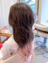 ヘアーメイク リボーン ムーヴ(hair make re:bbon move)毛先グラデーション×ペールピンク