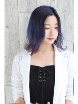 カイノ 福岡志免本店(KAINO)★ダブルカラー♪ブルーバイオレットグラデーションカラー