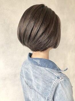 サーヴ ネクスト ヘア 元町店(SERVE next hair)の写真/自然由来のオーガニックカラー☆頭皮と毛髪をいたわりながら、しっかり白髪を染められます♪ハリコシ艶も◎