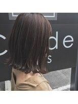 クレーデヘアーズ 相田店(Crede hair's)#ハイライト&ローライト切りっぱボブ