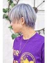 ヘアーサロン エール 原宿(hair salon ailes)(ailes 原宿)style396 デザインカラー☆ホワイトシルバー