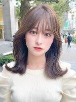 ユーレルム オット(U-REALM otto)U-REALM新宿 小顔可愛い韓国風切りっぱなし ミディアム 小山