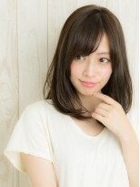 ヘアサロン ナノ(hair salon nano)小顔×ナチュラル=ミディーボブ