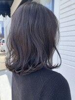 ケーオーエスビューティー(K O S beauty)ダークアッシュ×ミディアムヘア