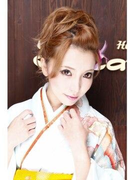 結婚式の髪型(ヘアアレンジ) ポンパドール ヘアアレンジ 二次会 結婚式 成人式
