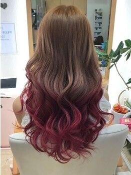エル(EL)の写真/[似合わせカット+選べるデザインカラー+TOKIOトリートメント¥12500]ニューTOKIOトリートメントでツヤ髪に♪