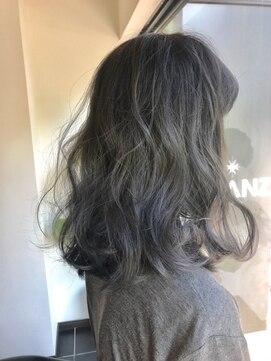 グランツヘアデザイン 四谷(GRANZ hair design)モーブカラーくびれミディ