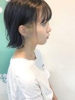 【micca下北沢】外ハネボブ×コバルトブルー×インナーカラー☆
