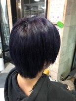 トリックストア(TRICK STORE)黒に近い紫髪 ブラックパープルヘアカラー