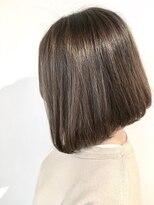 フレイムスヘアデザイン(FRAMES hair design)シンプルボブ×ソフトグレージュ