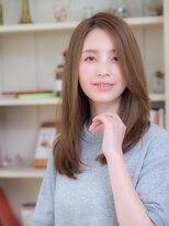 オーブ ヘアー アクネ 長岡京店(AUBE HAIR acne)透け感アップ♪秋カラー×ストレート