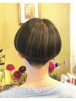 キュー ヘアー(Queue hair)刈り上げのマッシュ