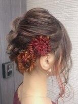 エンヘアー(en hair)インナーカラーのお花アレンジヘアセット◎