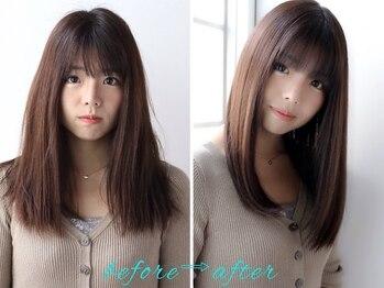 エノア 銀座(ENORE)の写真/《ENORE》独自開発、こだわりの髪質改善トリートメントで内側から潤うツヤ髪へ!