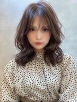 《Agu hair》ショコラカラーの艶モテ×ヨシンモリ