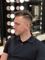 Side part fade cut