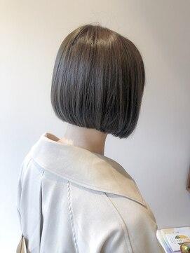 ストレート ボブ 代 髪型 40