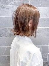 オーブ ヘアー アンリ 梅田店(AUBE HAIR unli)【AUBE HAIR】ベリーショコラ_外ハネ_ニュアンスカール