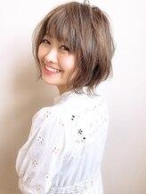 アグ ヘアー フォンテ 大泉学園店(Agu hair fonte)【Agu hair fonte】小顔かわいいショートボブ 外ハネ グレージュ