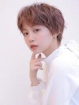 《Agu hair》ピンク×ハンサムショート