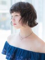 ノブ ヘアデザイン 戸塚店(NOB hairdesign)〈NOBhairdesign 戸塚店〉ワンサイドルショートふんわりウェーブ
