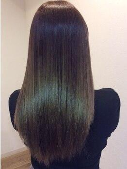 ケーズヘアー 緑が丘店(k's hair)の写真/くせ毛のあらゆる悩みも解消!!オーガニックストレートで毛先までやわらかツヤ髪へ