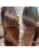 髪の毛をきれいにしたい女性に大人気クセも伸び艶が続くオリジナル髪質改善【プレミアムストレート】