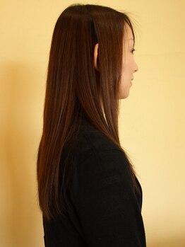 ヘアーズサハラ(HAIR'S SAHARA)の写真/ダメージを軽減してキレイに伸ばしたい方に!経験豊富なスタイリストの丁寧&こだわりの施術でサラサラ髪に☆