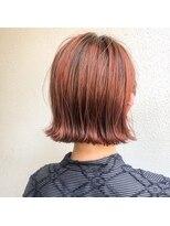 アレッタ ヘア オブジェ(ALETTA HAIR objet)オレンジハイトーン 【沖野 紘大】